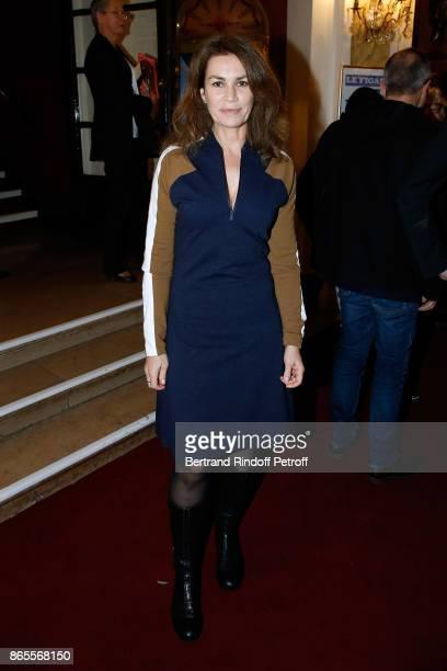 Actress Valerie Kaprisky attends the 'Ramses II' Theater Play at Theatre des Bouffes Parisiens on October 23 2017 in Paris France