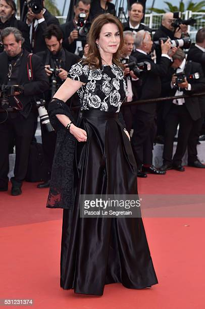 Actress Valerie Kaprisky attends the Slack Bay premiere during the 69th annual Cannes Film Festival at the Palais des Festivals on May 13 2016 in...