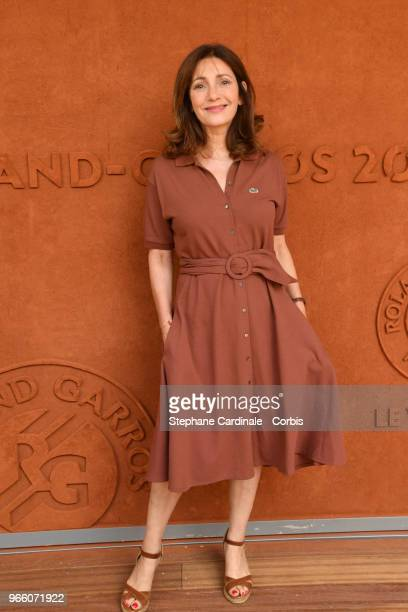 Actress Valerie Karsenti attends the 2018 French Open Day Seven at Roland Garros on June 2 2018 in Paris France