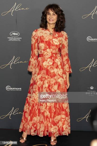 "Actress Valerie Lemercier attends ""Aline"" premiere at Le Grand Rex on October 25, 2021 in Paris, France."