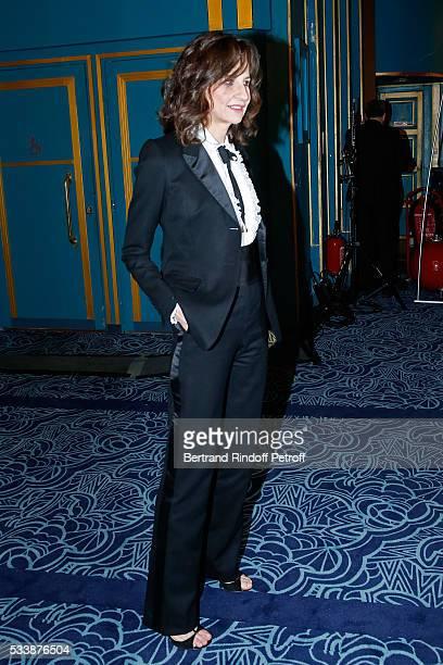 Actress valerie Lemercier attends 'La 28eme Nuit des Molieres' on May 23 2016 in Paris France