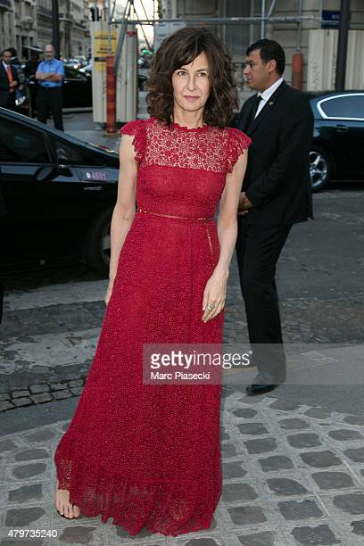 Actress Valerie Lemercier attends the 'VOGUE' party on July 6 2015 in Paris France