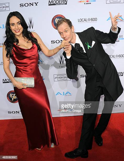 Actress Valerie Perez and actor Doug Jones at the 2015 Society Of Camera Operators Awards held at Paramount Studios on February 8 2015 in Hollywood...