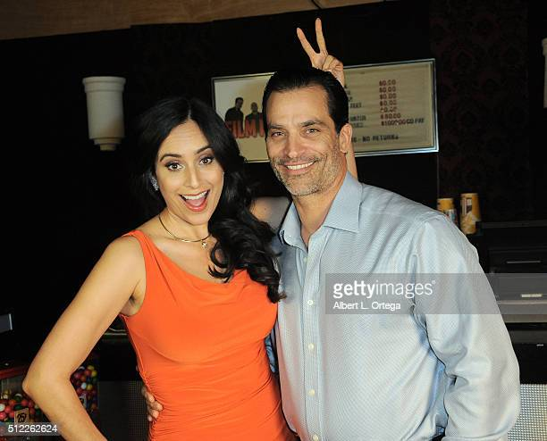 Actress Valerie Perez and actor Johnathon Scheach at the Nominations Announcement For The 42nd Annual Saturn Awards held at Geek Nation Studios on...