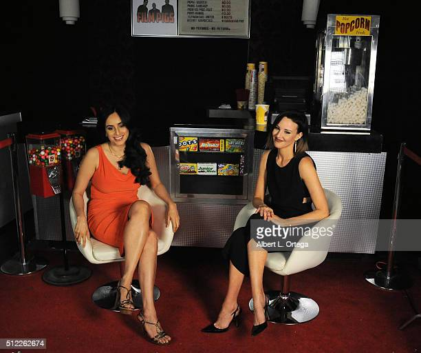 Actress Valerie Perez and actress Brianne Davis at the Nominations Announcement For The 42nd Annual Saturn Awards held at Geek Nation Studios on...