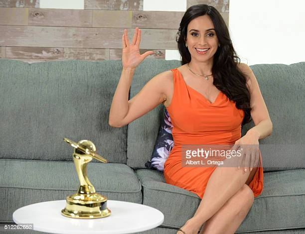 Actress Valerie Perez at the Nominations Announcement For The 42nd Annual Saturn Awards held at Geek Nation Studios on February 11 2016 in Van Nuys...