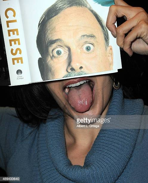 Actress Valerie Perez attends John Cleese's signing and QA for 'So Anyway' held at Barnes Noble bookstore at The Grove on November 21 2014 in Los...