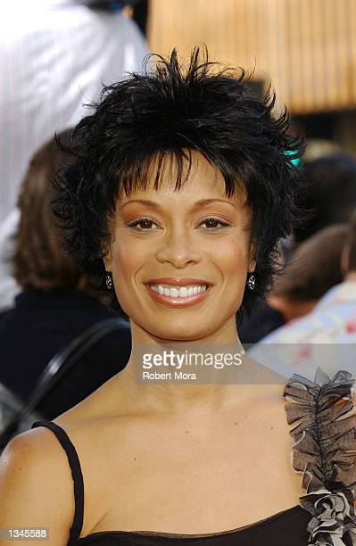 "Actress Valerie Pettiford attends the premiere of ""Serving Sara"" at the Samuel Goldwyn Theater on August 20, 2002 in Beverly Hills, California. The..."