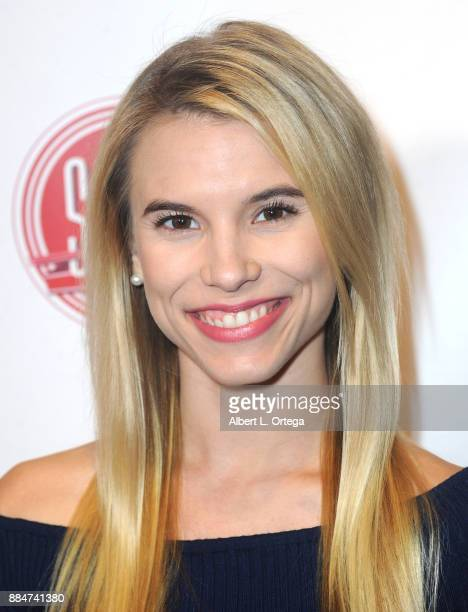 Actress Valerie Renee Heckel arrives for the TJ Scott Book Launch For 'In The Tub Volume 2' held at Cinematic Pictures Group Gallery on December 2...