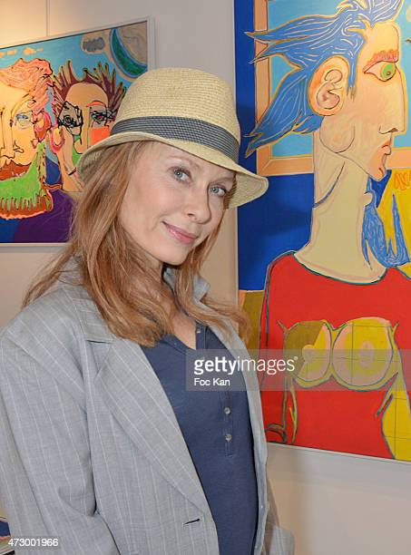 Actress Valerie Steffen attendS the Jacques Bral Exhibition Preview at 28 Matignon Gallery on May 11 2015 in Paris France