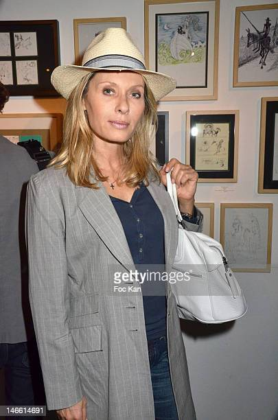 Actress Valerie Steffen attends the Une Exposition Particuliere by Ettore Scola and Le Magicien d'Hollywood by Dan Tavoularis Exhibition Preview at...
