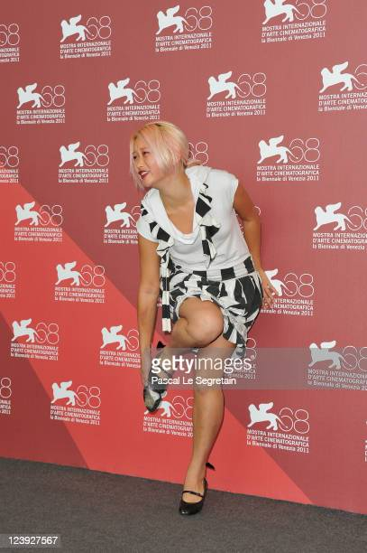 Actress Valerie Tian attends The Moth Diaries photocall at the Palazzo del Cinema during the 68th Venice Film Festival on September 6 2011 in Venice...