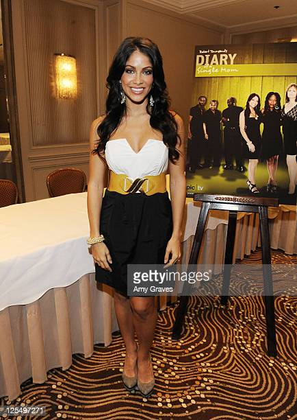 Diary of a single mom stock photos and pictures getty images actress valery ortiz attends the diary of a single mom season 3 press junket ccuart Image collections