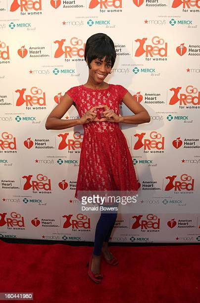 Actress Valisia LeKae attends the event to celebrate the 10th National Wear Red Day with American Heart Association's Go Red For Women movement at...