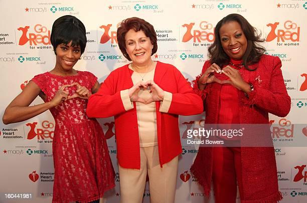 Actress Valisia LeKae Tony AwardWinner Judy Kaye and TV personality Star Jones who is Heart Disease Survivor and American Heart Association National...