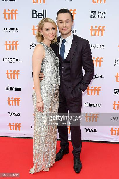Actress Valorie Curry and actor Sam Underwood attend the American Pastoral during the 2016 Toronto International Film Festival premiere at Princess...
