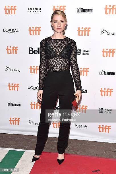 Actress Valorie Curry attends the Blair Witch premiere during the 2016 Toronto International Film Festival at Ryerson Theatre on September 11 2016 in...