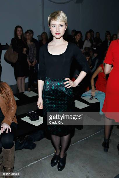 Actress Valorie Curry attends the Giulietta fashion show during MercedesBenz Fashion Week Fall 2014 at Pier 59 on February 9 2014 in New York City