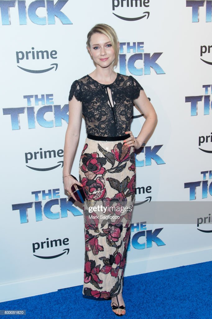 Actress Valorie Curry attends the 'The Tick' Blue Carpet Premiere at Village East Cinema on August 16, 2017 in New York City.