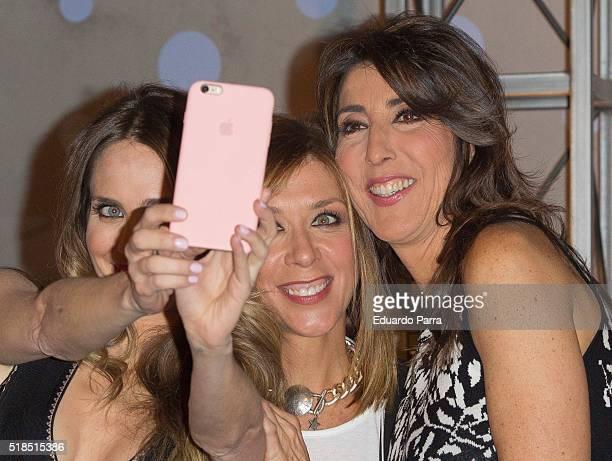 Actress Vanesa Romero actress Eva Isanta and actress Paz Padilla attend 'La que se avecina' 9th season presentation at TeleCinco studios on April 1...
