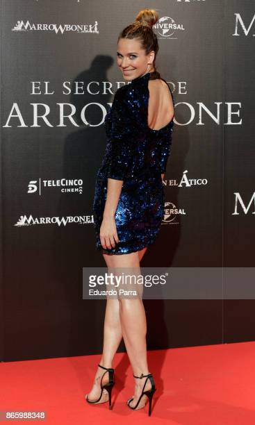 Actress Vanesa Romero attends the 'El secreto de Marrowbone' photocall at Capitol cinema on October 24 2017 in Madrid Spain