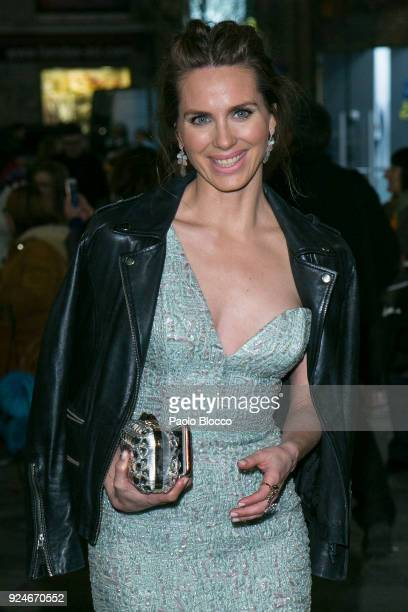 Actress Vanesa Romero is seen arriving to the 'Fotogramas de Plata' awards at the Joy Eslava Club on February 26 2018 in Madrid Spain