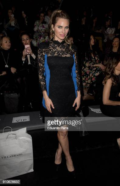 Actress Vanesa Romero is seen at the Hannibal Laguna show during MercedesBenz Fashion Week Madrid Autumn/ Winter 201819 at Ifema on January 26 2018...