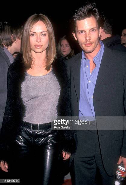 Actress Vanessa Angel and actor Rick Otto attend The Thin Red Line Beverly Hills Premiere on December 22 1998 at Academy of Motion Picture Arts and...