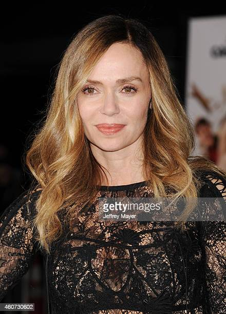 Actress Vanessa Angel arrives at the Los Angeles premiere of 'Dumb And Dumber To' at Regency Village Theatre on November 3 2014 in Westwood California