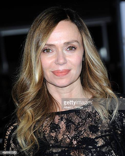 Actress Vanessa Angel arrives for the Premiere Of Universal Pictures And Red Granite Pictures' Dumb And Dumber To held at the Regency Village Theater...