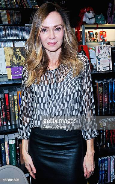 Actress Vanessa Angel at the Second Annual David DeCoteau's Day Of The Scream Queens held at Dark Delicacies Bookstore on January 25, 2015 in...
