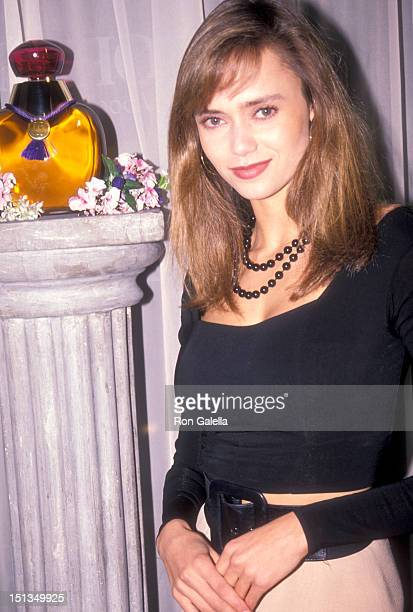 Actress Vanessa Angel attends the Party to Celebrate the Launch of Oleg Cassini's New Perfume Cassini on March 5 1990 at Mortimer's Restaurant in New...