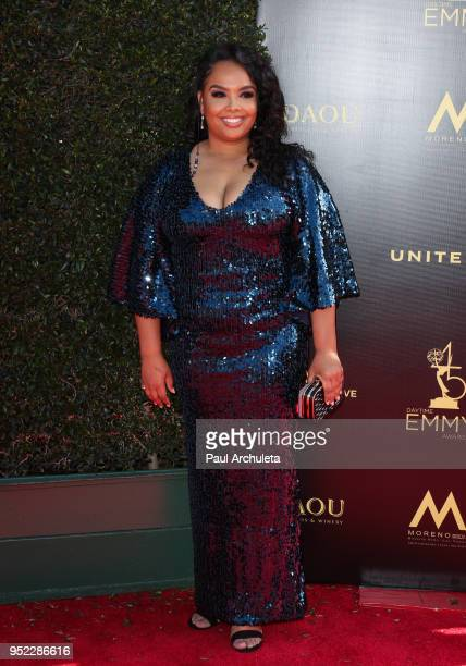 Actress Vanessa Baden attends the 45th Annual Daytime Creative Arts Emmy Awards at the Pasadena Civic Auditorium on April 27 2018 in Pasadena...