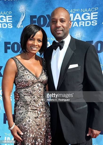 Actress Vanessa Bell Calloway and her husband Tony Calloway arrive at the 42nd NAACP Image Awards held at The Shrine Auditorium on March 4 2011 in...