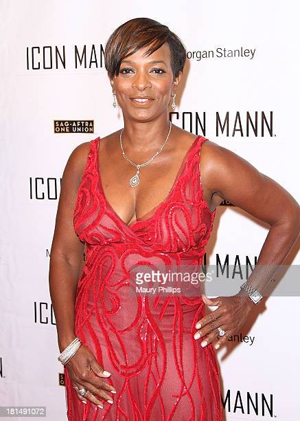 Actress Vanessa Bell Calloway arrives at the ICON MANN's Black Men in Entertainment Multimedia PreEmmy Dinner on September 20 2013 in Beverly Hills...