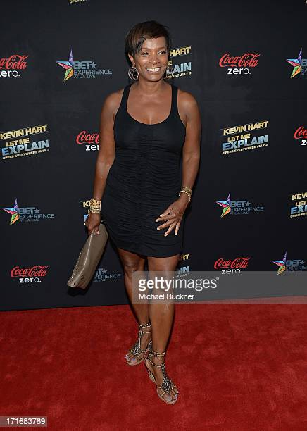 Actress Vanessa Bell Calloway arrives at the premiere of Summit Entertainment and Code Black Film's Kevin Hart Let Me Explain at Regal Cinemas LA...