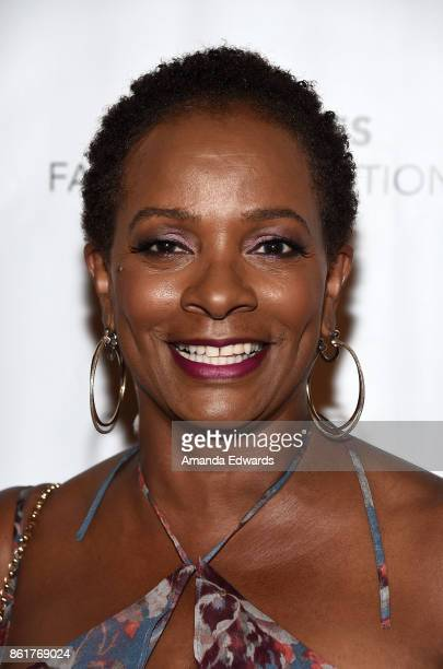 Actress Vanessa Bell Calloway arrives at the Sunday Matinee Of Turn Me Loose at the Wallis Annenberg Center for the Performing Arts on October 15...