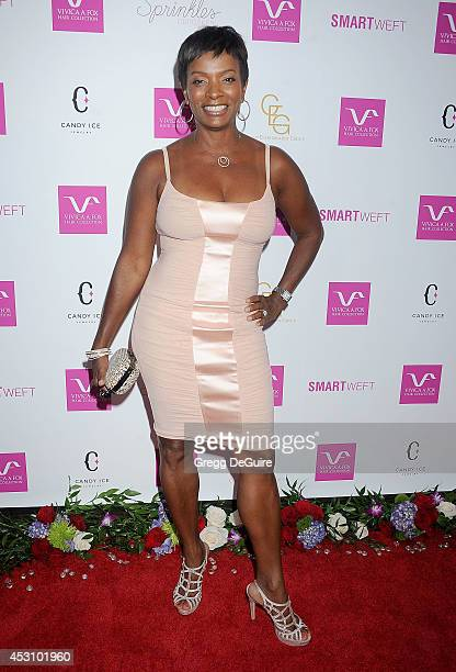 Actress Vanessa Bell Calloway arrives at the Vivica A Fox 50th Birthday party at Philippe Chow on August 2 2014 in Beverly Hills California