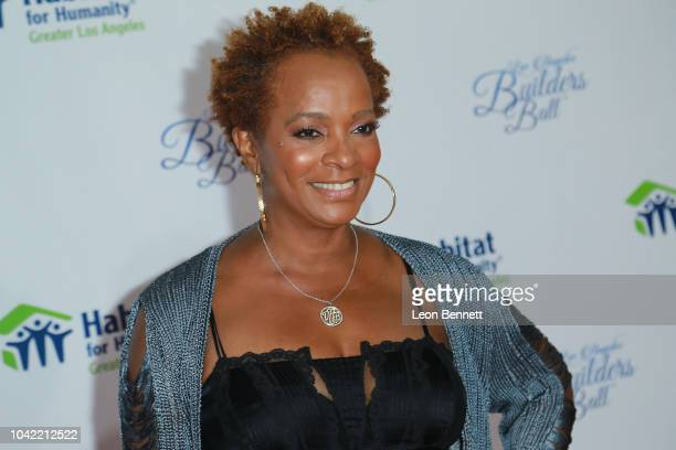 Actress Vanessa Bell Calloway attends Habitat For Humanity Of Greater Los Angeles' 2018 Los Angeles Builders Ball at The Beverly Hilton Hotel on...