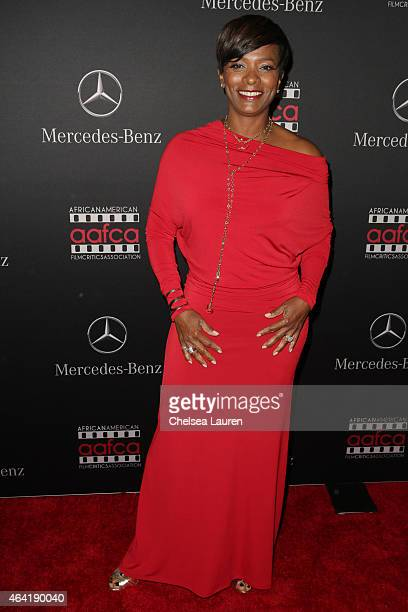 Actress Vanessa Bell Calloway attends MercedesBenz USA and African American Film Critics Association Academy Awards viewing party on February 22 2015...