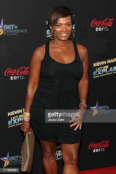 Actress Vanessa Bell Calloway attends Movie Premiere Let Me Explain with Kevin Hart during the 2013 BET Experience at Regal Cinemas LA Live on June...