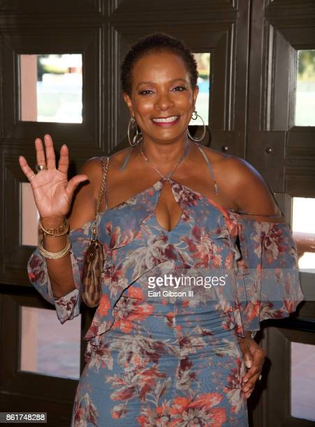 Actress Vanessa Bell Calloway attends Sunday matinee of Turn Me Loose at Wallis Annenberg Center for the Performing Arts on October 15 2017 in...