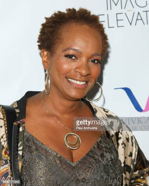 Actress Vanessa Bell Calloway attends the release party for Vivica A Fox's new book Every Day I'm Hustling at Rain Bar and Lounge on April 8 2018 in...
