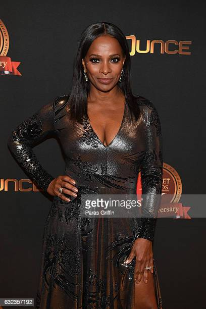 Actress Vanessa Bell Calloway backstage at 25th Annual Trumpet Awards at Cobb Energy Performing Arts Center on January 21 2017 in Atlanta Georgia