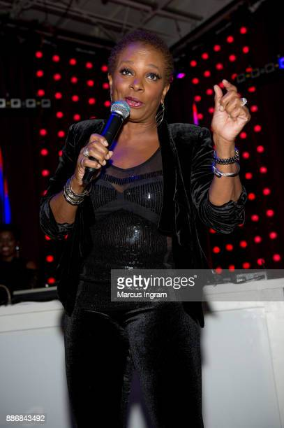 Actress Vanessa Bell Calloway speaks onstage during the BWFN holiday party at Revel on December 5 2017 in Atlanta Georgia