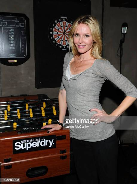 Actress Vanessa Branch attends the Superdry Experience featuring The Honey Brothers with Cisco Adler and DJ Momjeans at Sundance 2011 on January 23...
