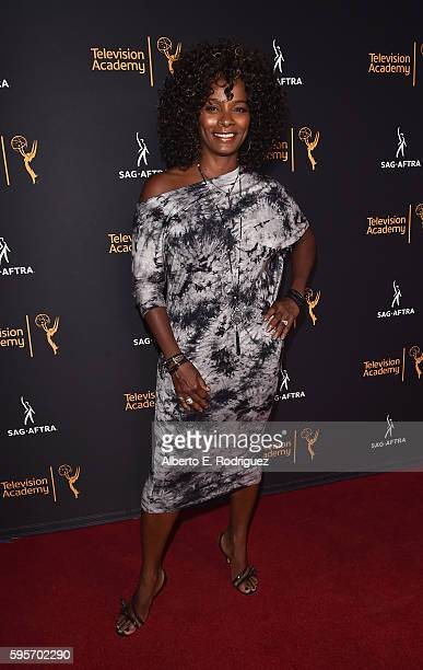 Actress Vanessa Calloway attends the Television Academy And SAGAFTRA's 4th Annual Dynamic and Diverse Celebration at The Saban Media Center on August...