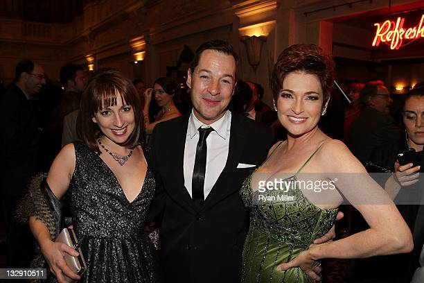Actress Vanessa Claire Smith actor French Stewart and host actress Carolyn Hennesy pose during the 2011 LA Stage Alliance Ovation Awards Ceremony...