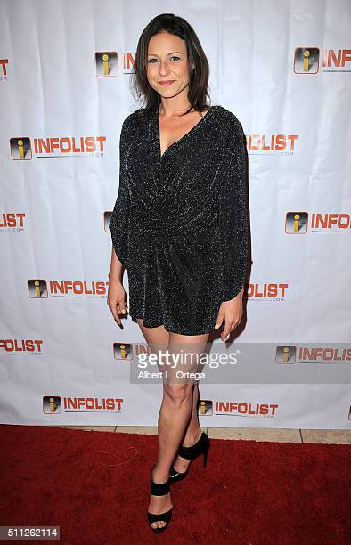 Actress Vanessa Cloke arrives for the InfoList PreOscar Soiree And Birthday Party for Jeff Gund held at OHM Nightclub on February 18 2016 in...