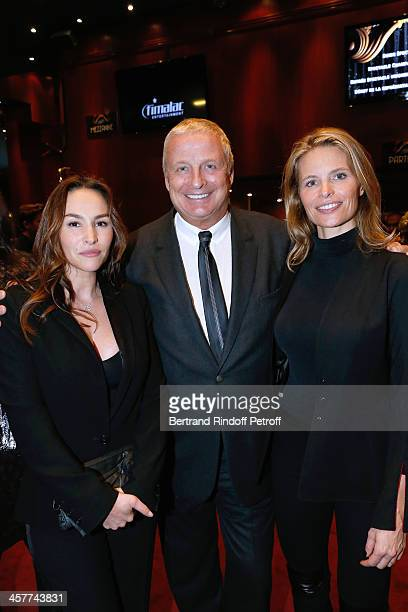 Actress Vanessa Demouy Chairman of the Supervisory Board of Clarins Group Christian Courtin Clarins and his wife Karine Courtin Clarins attend the...